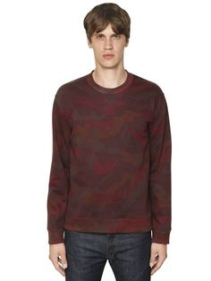 VALENTINO - CAMO PRINTED COTTON SWEATSHIRT - LUISAVIAROMA - LUXURY SHOPPING WORLDWIDE SHIPPING - FLORENCE