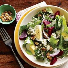 Kale and Beet Salad with Blue Cheese and Walnuts | MyRecipes.com