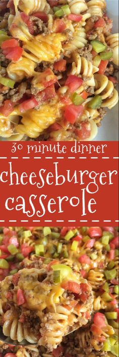 All the flavors you love about a cheeseburger in an easy, family-favorite casserole! Cheeseburger casserole is a quick, meal that is kid-approved and so cheesy. (beef recipes for dinner casseroles) Beef Dishes, Pasta Dishes, Food Dishes, Main Dishes, One Pot Meals, Main Meals, Kids Meals, Quick Meals For Kids, Easy Family Meals