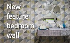 New feature wall in the bedroom | Ferny Hill Retreat Feature Wall Bedroom, Bedroom Wall, Holiday Apartments, Romantic Couples, Emerald, Interior Design, Projects, Nest Design, Log Projects