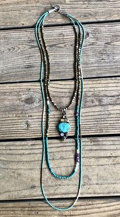 Turquoise & Gemstone Layered Necklace