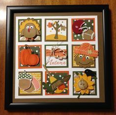 Demonstrator business web site (DBWS) for Stampin' Up! Order Stampin' Up! Independent demonstrator and creative coach. Box Frame Art, Frame Crafts, Craft Frames, Punch Art Cards, Thanksgiving Cards, Thanksgiving Decorations, Candy Cards, Fall Cards, Copics