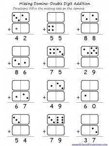 Column addition. FREE Domino Double Digit Addition and Subtraction Printable | This Reading Mama