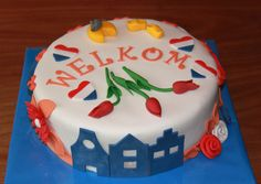 Themataarten - Koning Kikker Welcome to Holland cake
