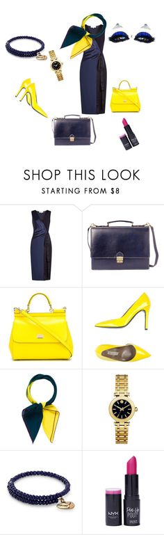 """""""Celestial Blue"""" by sinmrn ❤ liked on Polyvore featuring Diane Von Furstenberg, SHARO, Dolce&Gabbana, Gianmarco Lorenzi, Hermès, Tory Burch, Alex and Ani and NYX"""