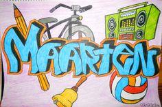 Je naam in graffitistijl leren tekenen! Geschikt vanaf groep 5. Leuk voor bijvoorbeeld een kennismakingsles.