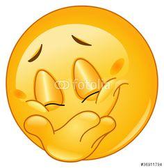 """Descargue el vector libre de derechos """"Hiding smile emoticon"""" creado por Yael Weiss al precio más bajo en Fotolia.com. Explore nuestro económico banco de imágenes para encontrar el vector perfecto para sus proyectos de marketing."""