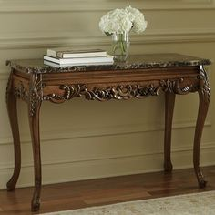 Victorian console tables image by June ? Hagel on Home Console Furniture, Luxury Bedroom Furniture, Diy Furniture Redo, Home Decor Furniture, Victorian Console Tables, Victorian Furniture, Traditional Console Tables, Corner Sofa Design, Decoration