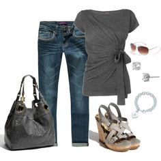 """This would be so great for a """"Jean Friday"""" day at school. Except with not boyfriend cut jeans."""