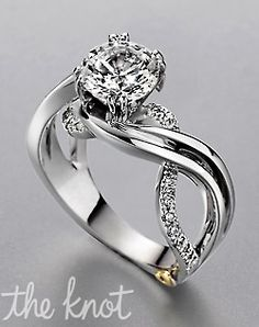 Beautiful - Click image to find more Weddings Pinterest pins love, but it would be stunning if it was in rose gold and the one strand of diamonds was white gold.