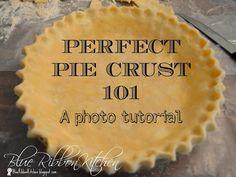 Blue Ribbon Kitchen: PERFECT PIE CRUST 101, a blue ribbon~award winning crust.