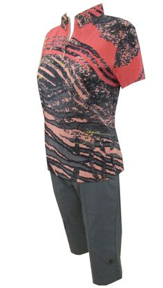 Find stylish golf outfits in #lorisgolfshoppe : Tea Rose Jamie Sadock Ladies & Plus Size Golf Outfit