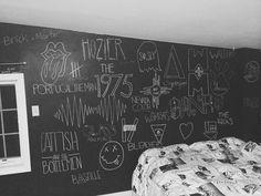 chalk board walls #tumblr #grunge #bedroom