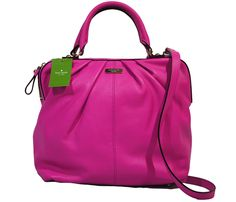 Kate Spade Five Points Camille Leather Bag in Hot Fuschia