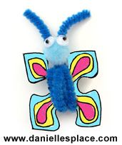 Butterfly Pin or Magnet Craft for Kids