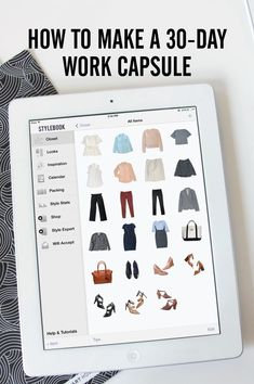 How to create a capsule wardrobe of 30 work outfits from 23 clothing items…