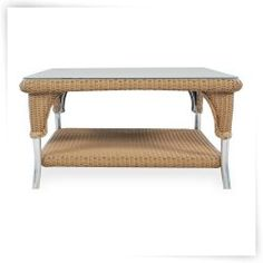 Lloyd Flanders All-Weather Wicker 35 in. Square Cocktail Table