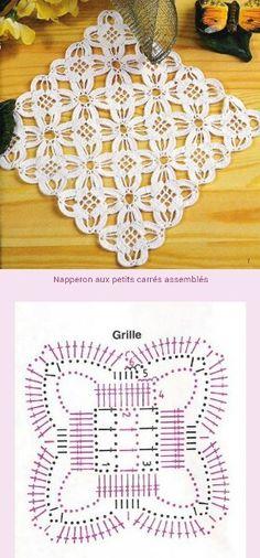 Transcendent Crochet a Solid Granny Square Ideas. Inconceivable Crochet a Solid Granny Square Ideas. Crochet Motif Patterns, Crochet Blocks, Crochet Borders, Crochet Diagram, Crochet Chart, Crochet Squares, Crochet Granny, Irish Crochet, Crochet Designs