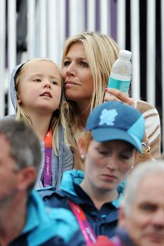 The Royal Watcher   Princess Maxima and their daughters watch equestrian jumping, Day 4 of the Olympics.