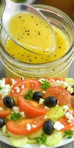 Encantador This Apple Cider Vinegar Salad Dressing is my favorite homemade salad dressing, . This Apple Cider Vinegar Salad Dressing . Tasty Videos, Food Videos, Vegetarian Recipes, Cooking Recipes, Healthy Recipes, Apple Recipes, Sauce Recipes, Salad Dressing Recipes, Salmon Salad Dressing