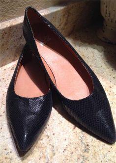 Auth $295 Jeffrey Campbell Black Python Suede Pumps Shoes Size 12 | eBay