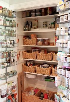 Great pantry cabinet ~ need to remember to make use of the backside of the cabinet door ~ from LLH DESIGNS: My Farmhouse Kitchen