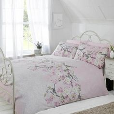 Rapport Home Eloise Pink Duvet Cover and Pillowcase Set
