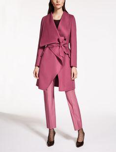 Max Mara FUMANA fuchsia: Pure cashmere coat.