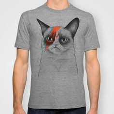 Grumpy Cat as Bowie Men's T-Shirt