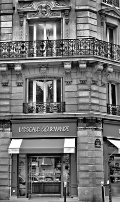 The classic French architecture takes me back to black & white. I wish it would take me back to L'Escale Gourmande, as it is my 'go to' baguette jambon boulangerie; a sandwich that I would often take to the Palais de Chaillot to eat, read and watch the crowds come and go. Why were there crowds there? Something about a view of some tower or something like that. Seems that Tower turns up in a few of my Paris Gallery photos ...                  Paris Gallery by Scot Fin - A Writer's Site