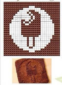 Choc-ice Knit Dishcloths Pattern
