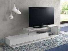 Meuble TV. Mod. BOSTON Boston, Living Room Tv, Interiores Design, Flat Screen, Templates, Tv Unit Furniture, Home Decorations, Modern Tv Cabinet, Modern Design