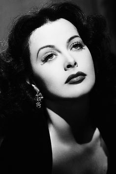 "vintagegal:  ""The same evening I had dinner at Hedy Lamarr's. Framed by mountains, her wooden house evoked her native Austria. There, on her terrace, which seemed to float over the canyon, she appeared, dressed in red, her black hair flowing. She was a vision of sensuality, with the nose upturned just enough to keep her from being too beautiful."" - Jean Pierre Aumont (x)"