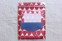 Strawberry Mini Letter Set | Fruits Mini Letter Set  - 10 sheets - 5 envelopes - 0088