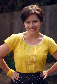 Cute top, easy sew, lots of variation ideas. Free pattern too!