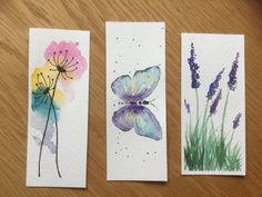 (notitle) - Yr 1 - My Beg Art - Watercolor Watercolor Bookmarks, Watercolor Cards, Watercolour Painting, Watercolor Flowers, Painting & Drawing, Creative Bookmarks, Diy Bookmarks, Art Sketches, Art Drawings