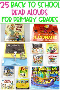 25 Back to school read alouds to pick up and share with your primary students to calm their nerves and create a few laughs. #backtoschoolreadalouds #backtoschoolbooks