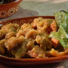 ::AL SABOR DEL CHEF:: Recetas, consejos y más para la cocina. Tacos de chicharron en salsa verde.