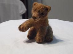 Needle felted baby bear.