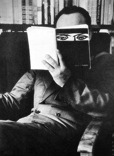 """Eyes"" (""Oczy""), photo by S. Kozlowski of Poland, 1959 Foto Portrait, Portrait Photography, Image Photography, Black White Photos, Black And White Photography, People Reading, Design Visual, Its A Mans World, Foto Art"