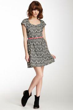 Belted Lace Dress by Freeway on @HauteLook