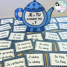 La classe de Mme McIntosh: Teapot - Present tense verbs French Verbs, French Grammar, French Phrases, French Teaching Resources, Teaching French, Teaching Spanish, How To Speak French, Learn French, Teaching Verbs
