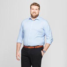 7cebe862 Men's Big & Tall Standard Fit Long Sleeve Button-Down Shirt - Goodfellow &  Co Blue 2XB