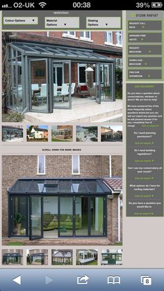 Bifold doors Concertina Doors, Glass Extension, Planning Permission, Extensions, Rooms, Mansions, House Styles, Outdoor Decor, Color