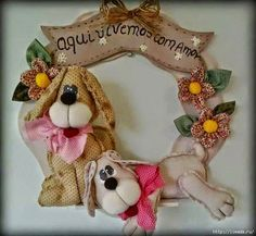 Explore Kaya_Alva's photos on Photobucket. Dog Crafts, Felt Crafts, Sewing Crafts, Diy And Crafts, Sewing Projects, Christmas Dog, Christmas Crafts, Christmas Ornaments, Felt Name Banner