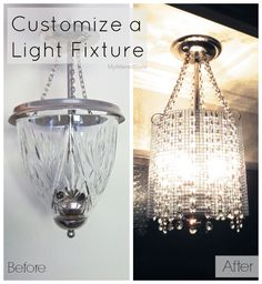 Customize a light fixture.