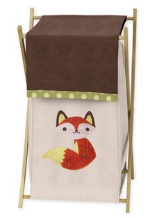 Free shipping at BabysOwnRoom.com. This Forest Friends laundry hamper coordinates with the entire wooded animal nursery decor by Sweet Jojo Designs.
