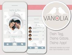 VANOLIA - Eure eigene Hochzeitsapp & Homepage - lasst Euch von einzigartigen Designs inspirieren und erstellt noch heute Euer Schmuckstück! Los geht's: www.vanolia.de