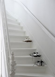 white painted stairs