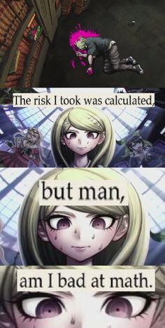 See more 'Danganronpa' images on Know Your Meme! Danganronpa Funny, Danganronpa Characters, Anime Meme, Haha Funny, Funny Memes, Pink Blood, Danganronpa Trigger Happy Havoc, Another Anime, Cursed Images